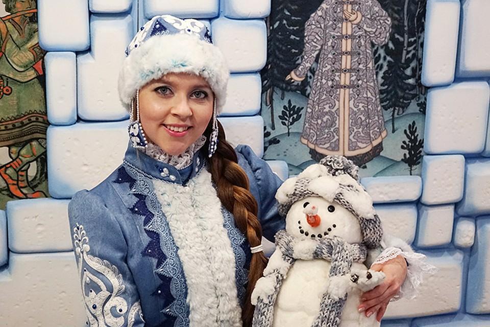Дед мороза из снега