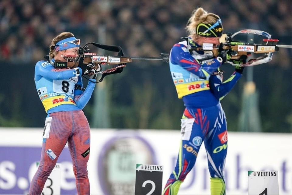 Онлайн-трансляция женского спринта на этапе Кубка мира по биатлону в Поклюке»
