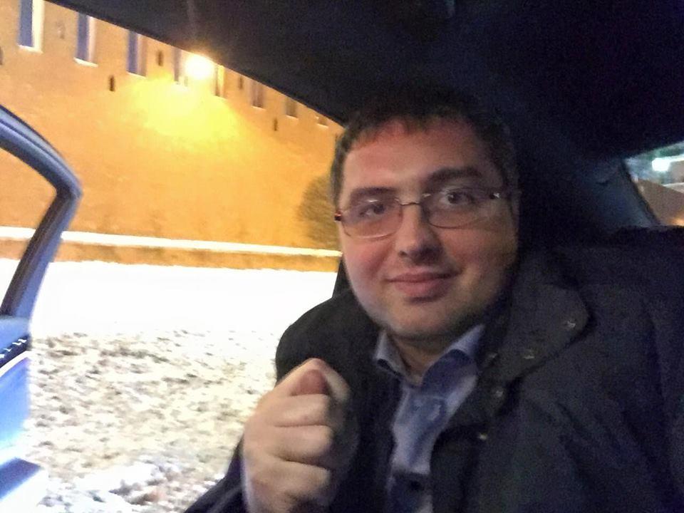Ренато Усатый возле Кремля.