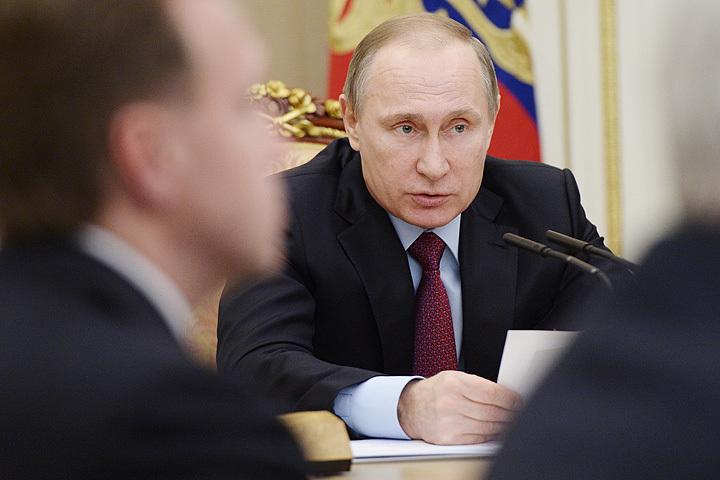 1 февраля 2016. Президент Путин на совещании по вопросам проведения приватизации в 2016 году. Фото: Алексей Никольский/пресс-служба президента РФ/ТАСС