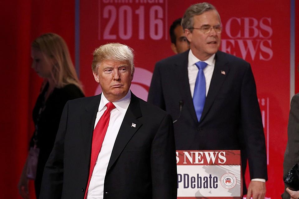 Претенденты на пост президента США - миллиардер Дональд Трамп и бывший губернатор американского штата Флорида Джеб Буш - поспорили из-за России в ходе теледебатов