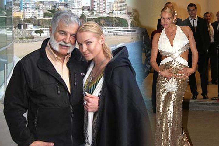 Анастасия Волочкова в золотом платье, которое ей подарил миллионер и в обнимку с щедрым чилийцем.