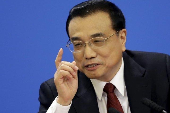 Премьер Госсовета КНР Ли Кэцян на пресс-конференции в Пекине