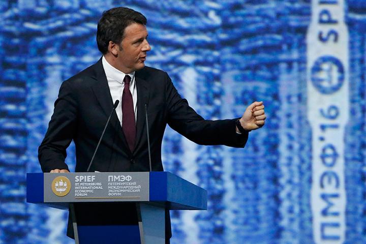 Итальянский премьер Маттео Ренци уверен, что санкции скоро будут сняты