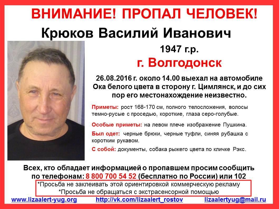 Волгодонец сПушкиным наплече пропал подороге вЦимлянск