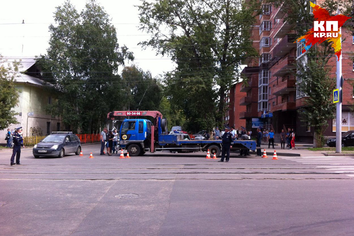 Вцентре Иркутска шофёр фургона насмерть сбил пешехода