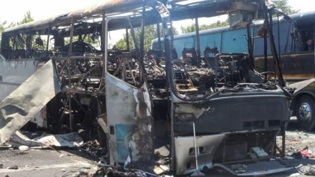 ВБолгарии зажегся автобус смолдавскими туристами