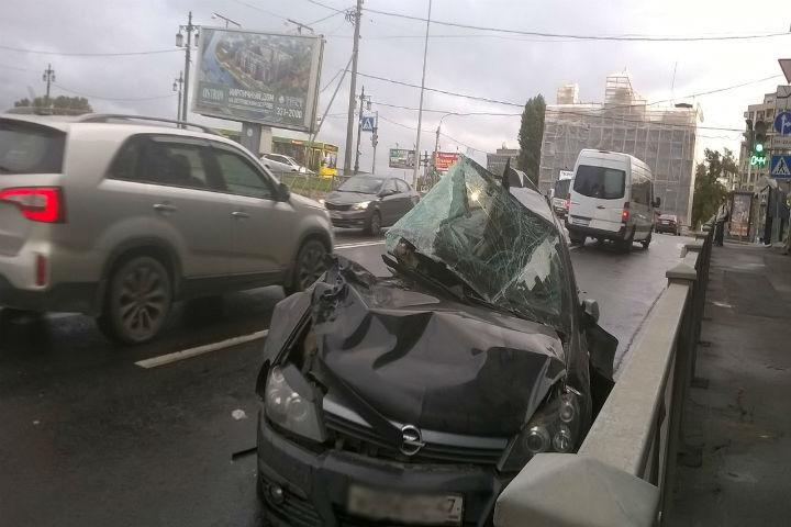 К счастью водитель выжил в страшном ДТП
