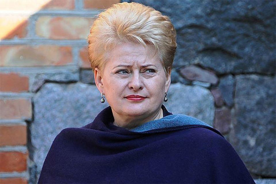 Глава литовского государства Даля Грибаускайте. Фото: с сайта president.