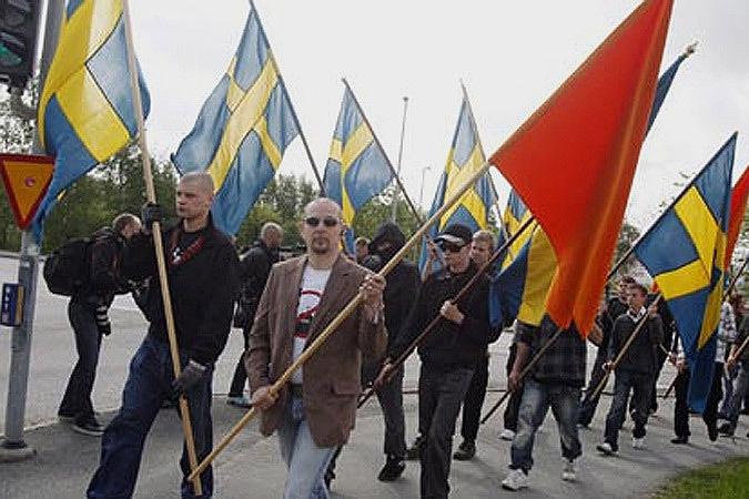 """Премьер-министр Швеции назвал «Демократов Швеции» """"нацистской партией"""". Фото: SVT"""