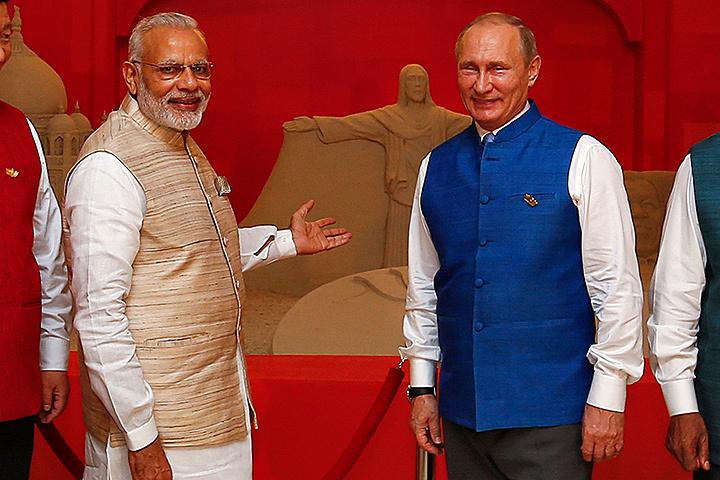 Нарендра Моди и Владимир Путин.