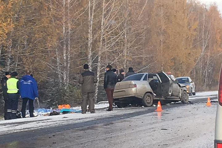 Джип протаранил грузовой автомобиль вЧелябинской области: двое погибли