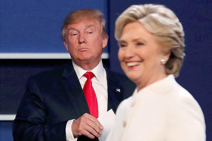 Хиллари Клинтон и Дональд Трамп на третьих по счету теледебатах.