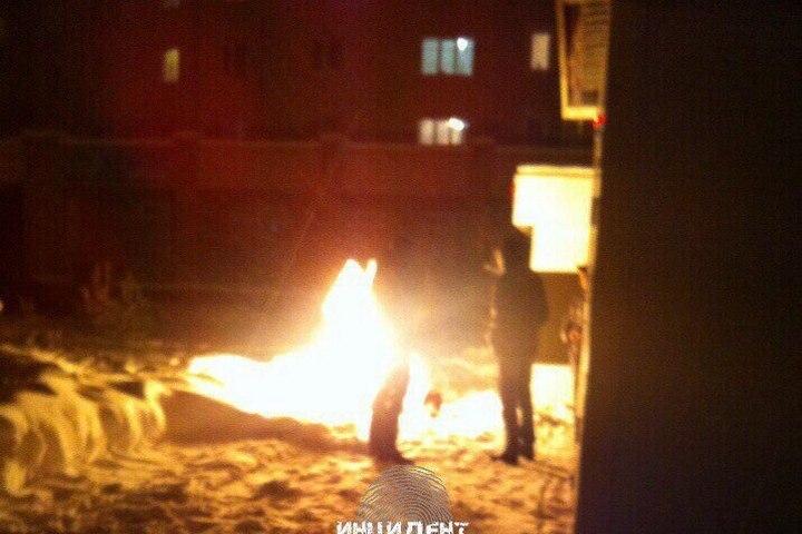 НаРадуге вКемерове зажегся газовый баллон