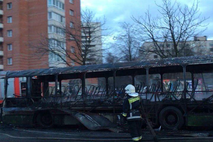 ВДобрянке сгорели шесть автобусов