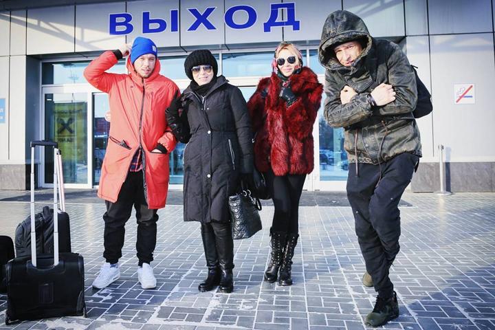 Столица Сибири встретила группу «Банд'Эрос» 30-градусным морозом. Фото: instagram.com/banderosmusic