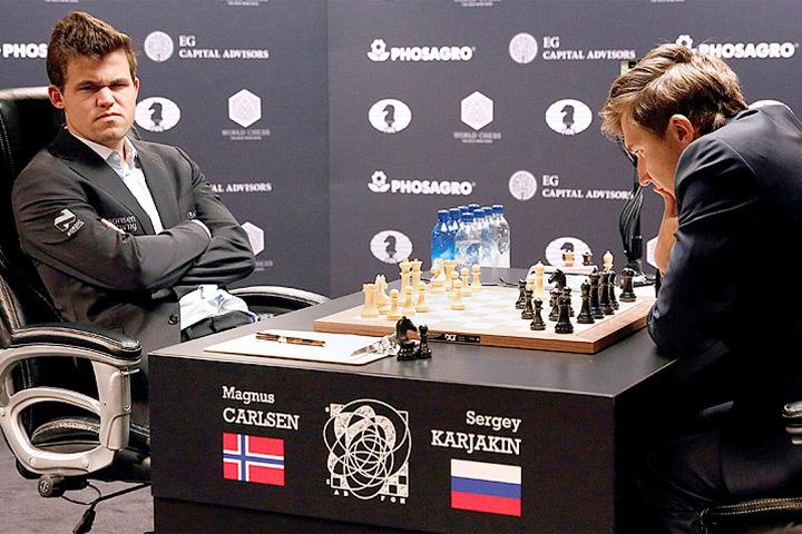 Норвежский гроссмейстер Магнус Карлсен, ни его российский коллега Сергей Карякин.