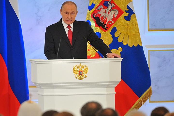 Владимир Путин выступил со своим уже тринадцатым Посланием Федеральному собранию