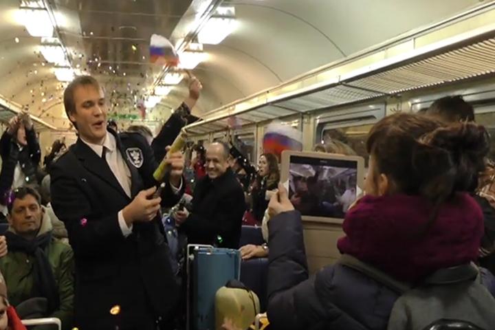 Пассажиры стали участниками необычного флэш-моба