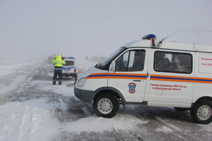 Натрассах Волгоградской области оборудуются мобильные пункты обогрева