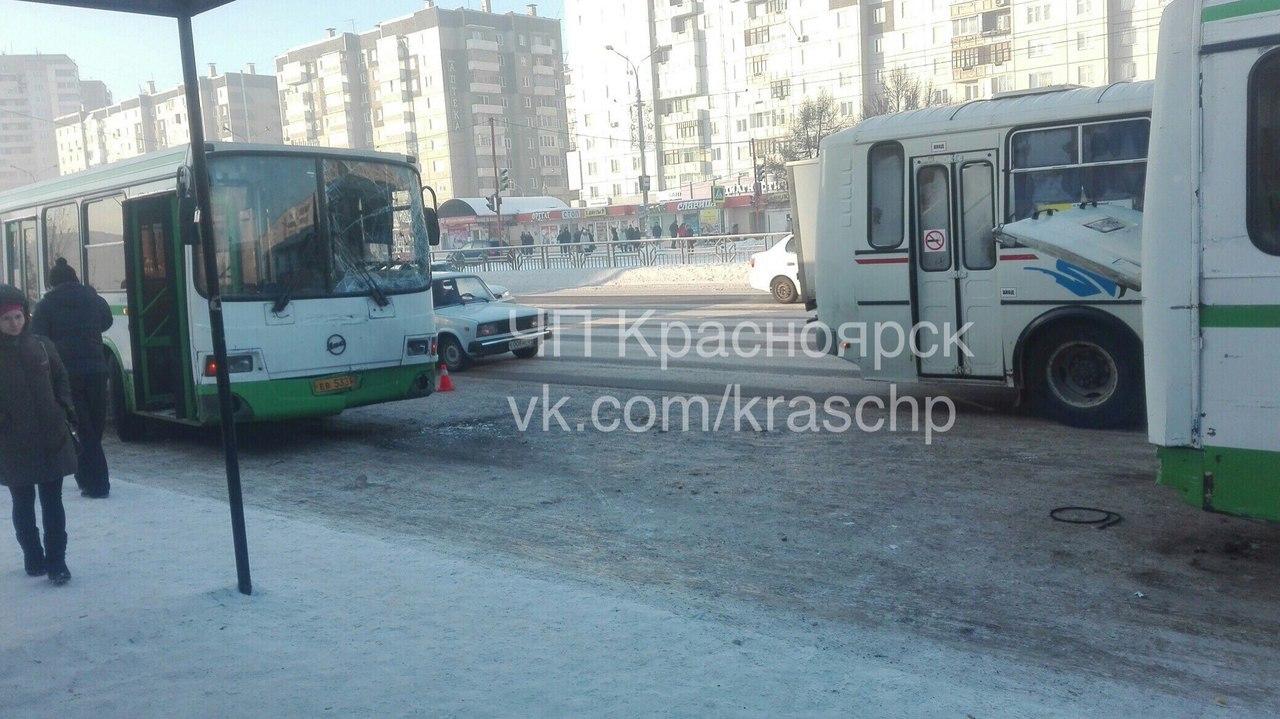 ВДТП сучастием 2-х автобусов пострадала женщина