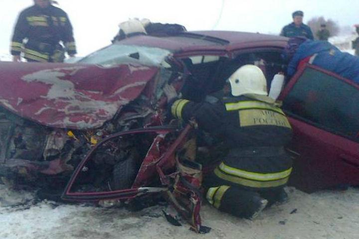 Вжутком ДТП с«КамАЗом» наворонежской трассе умер автомобилист: трое пострадали