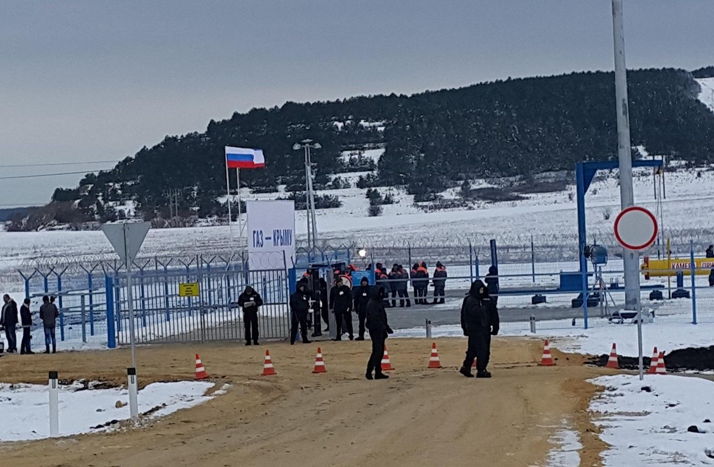 Подача газа вКрым началась