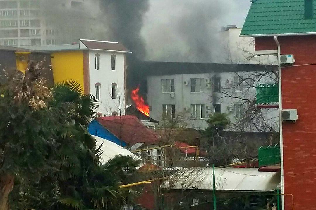 ВСочи три человека пострадали при взрыве газа вчастной гостинице