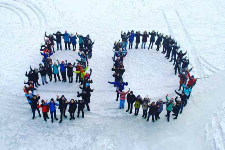 Иркутские студенты пешком пересекли Байкал вчесть 80-летия Приангарья