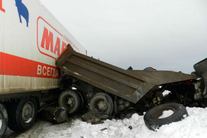 Смертельное ДТП вБашкирии: Столкнулись два грузового автомобиля