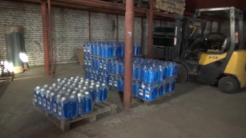 Сосклада вПетербурге изъяли 860 литров стеклоомывающей жидкости сметанолом