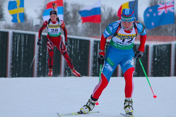 Эстония: русская биатлонистка— лидер спринтерской гонки наэтапе Кубка IBU