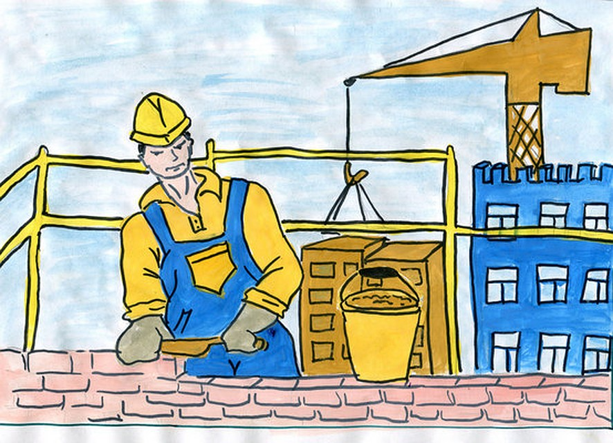 Детские рисунки строителей