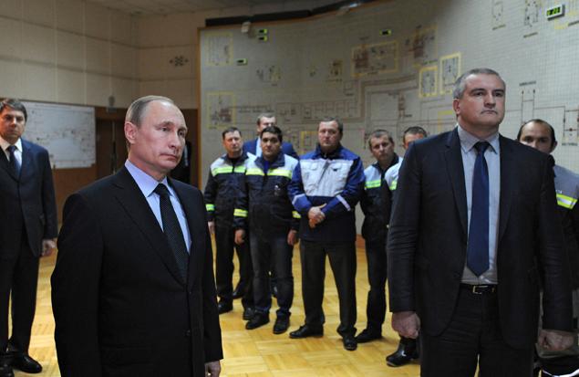 Путин подключил Крым к энергосистеме России Фото: РИА Новости