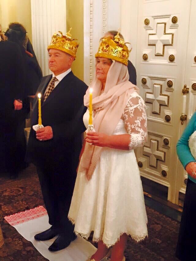 Юрий Лужков и Елена Батурина обвенчались в церкви.