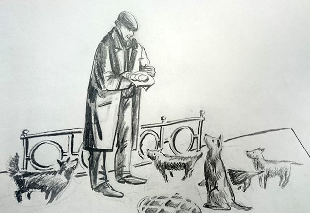 Один из эскизов проекта памятника народному артисту СССР Георгию Вицину Фото: Анастасия ПЛЕШАКОВА