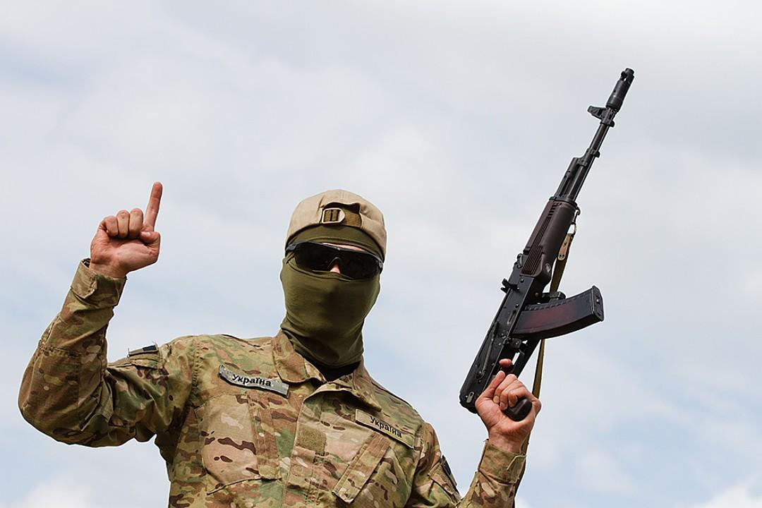"""Боец батальона """"Айдар"""", в который входила Савченко. В июне 2014 года он являлся добровольческим Фото: Zuma\ТАСС"""