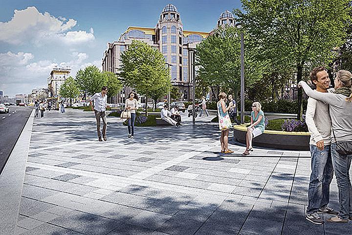 Такой станет Кудринская площадь уже этим летом. Фото: mos.ru
