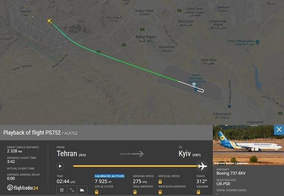 Украина приостанавливает полеты над Ираном после крушения пассажирского Boeing