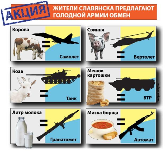 Тем временем интернет по-своему отреагировал на ситуацию вокруг Славянска