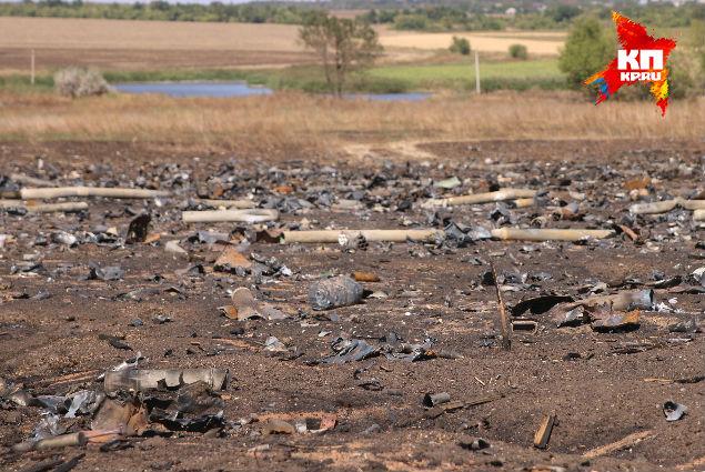 Весь лагерь усыпан ступенями реактивных снарядов «Града» Фото: Александр КОЦ, Дмитрий СТЕШИН