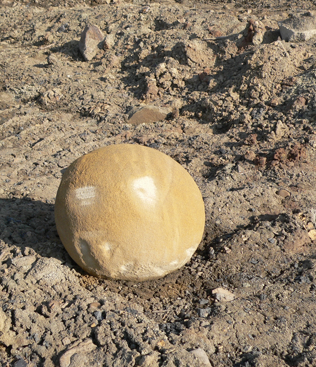 Шар ,найдденный под Иркутском (Россиия) в одном из угольных карьеров.