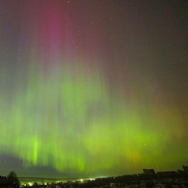 Красивейшее зрелище в небе Перми. Фото: СОЦСЕТИ