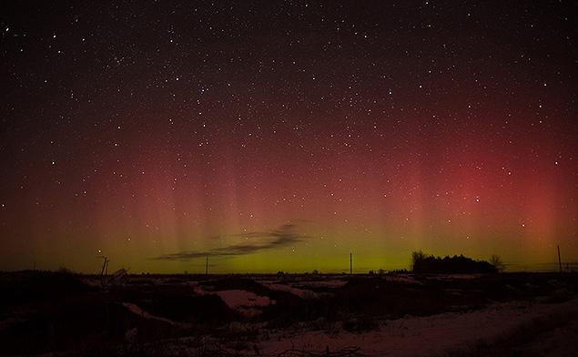 Саратовцы ночью тоже любовались на северное сияние. Фото: Анна Королёва