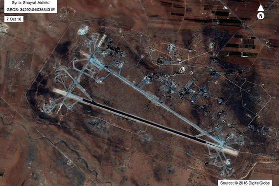Соединенные Штаты нанесли удар по аэродрому в сирийской провинции Хомс