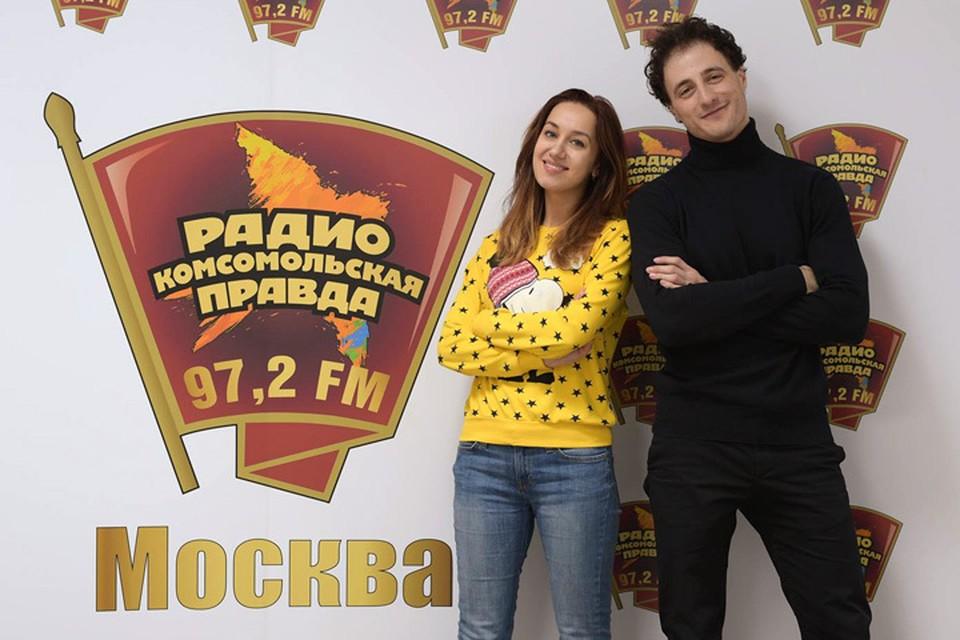 В гостях у Радио «Комсомольская правда» артисты мюзикла «Золушка» Павел Левкин и Юлия Ива
