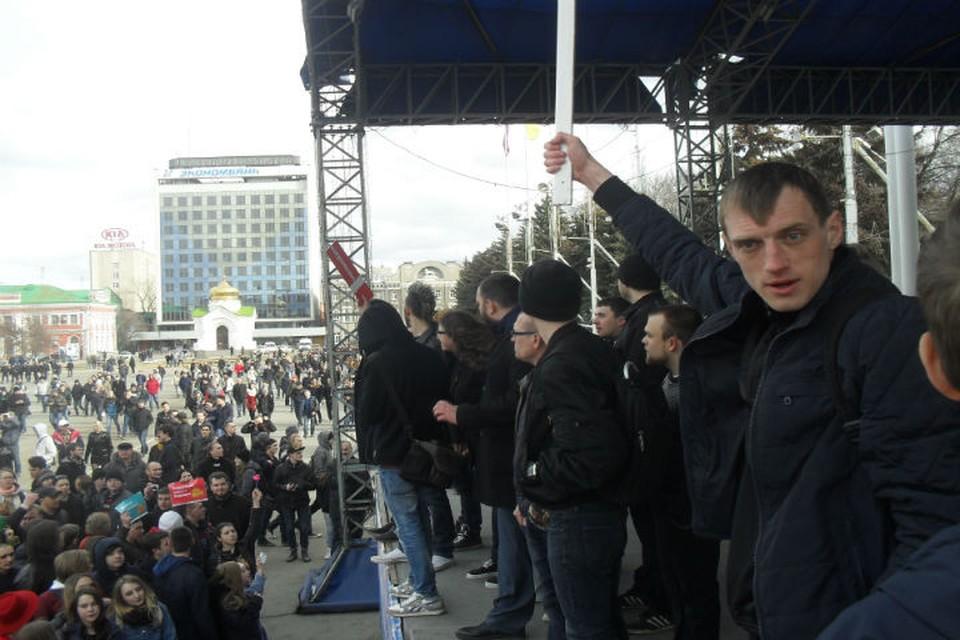 Шествие в поддержку Алексея Навального.