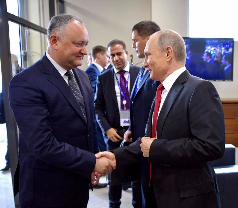 Игорь Додон и Пладимир Путин.
