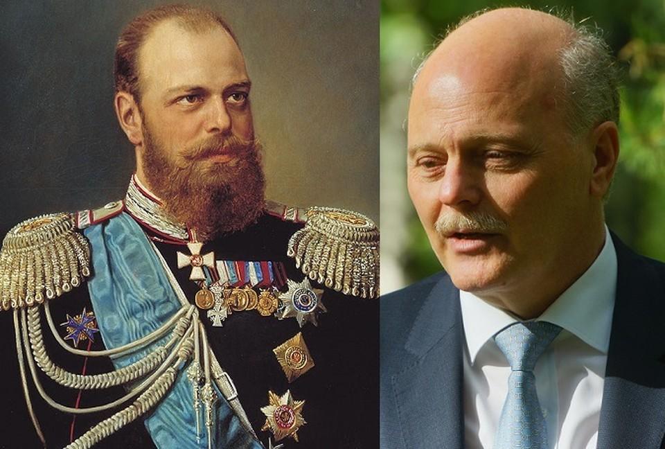 Павел Куликовский - праправнук императора Александра III. Если присмотреться, то между ними можно найти немало сходства.
