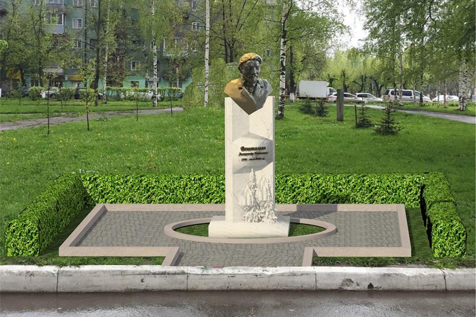 Так выглядит предварительный проект памятника Александру Вештомову. Фото: Валерий ФЕДЯЕВ